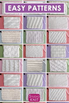 Find New Knit and Purl Stitch Patterns with Free Patterns and Video Tutorials in the Absolute Beginning Knitter Series by Studio Knit. knitting videos Knit Stitch Patterns for Beginning Knitters Knitting Books, Knitting Videos, Knitting Charts, Easy Knitting, Knitting For Beginners, Knitting Patterns Free, Knitting Scarves, Free Pattern, Beginning Knitting Projects