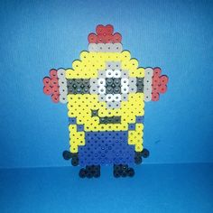 Minion perler beads by loomyourlifeout