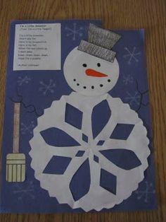 "Snowman ABC's""  A B C D E   Build a snowman just for me.  F G H I J   Please don't let him melt away.  K L M N O  Is he melting? NO! NO! NO!  P Q R S T   Down he melts away from me.  U V W X Y Z  I'll build him again you see.  ~ Author Unknown"