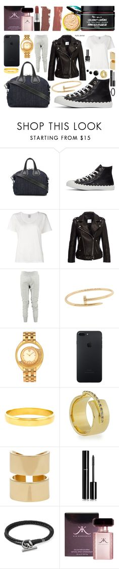 """Dressing Kylie"" by sharmarie ❤ liked on Polyvore featuring Givenchy, Chloé, Visvim, Anine Bing, MM6 Maison Margiela, Cartier, Versace, Elizabeth and James, Jennifer Fisher and Chanel"