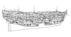 sailing ships cutaways - Google Search