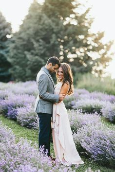 Michael + Gen | Lavender Field Engagement #weddingphotography