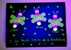 """Girl Scout Daisies - Between Earth and Sky - Ideas for earning the Firefly Award...""""Glow-in-the-Dark Firefly Jar,"""" """"Bandage Lightning Bugs"""" craftivity, easy glow stick experiment, firefly book suggestion and more."""