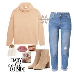 """""""Untitled #122"""" by nikki5673 ❤ liked on Polyvore featuring Iris & Ink, WithChic, Yves Saint Laurent, Lime Crime and Avon"""