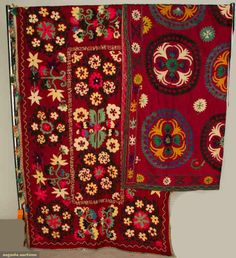 Two Suzani Tent Hangings, Uzbekistan, Mid 20th C, Augusta Auctions, April 17, 2013 - NYC, Lot 392