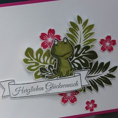 "Polly kreativ: Happy Frosch! - Stampin up ""Love you lots"""