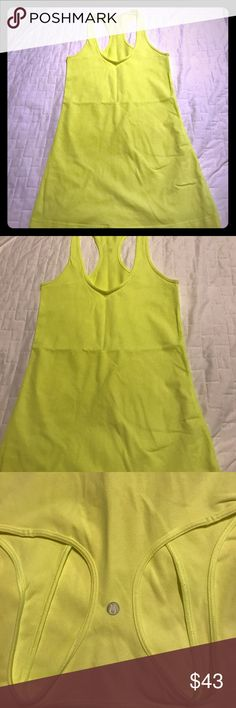 Lululemon Cool Racerback Tank Top and 4 Cool Racerback Tank Top Size 4 in Fluorescent Yellow.. Worn 1 time only! lululemon athletica Tops Tank Tops