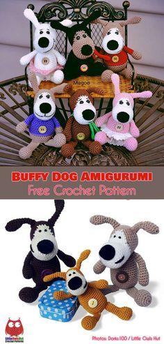 Dog Buffy Amigurumi Free Crochet Pattern #freecrochetpatterns #amigurumi #crochettoys #crochetdog