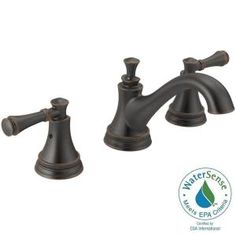 Widespread 2 Handle High Arc Bathroom Faucet Trim Kit In Oil Rubbed Bronze  (Valve Not Included)