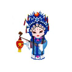 3D Chinese Ancient Court Maid Fridge Magnet by Sterxy on Etsy #fridgemagnet #cute #3D Clouds Pattern, Kitchen Accessories, Maid, Opera, Kitchen Decor, Oriental, Chinese, Make It Yourself