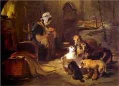 Artist: Edwin Henry Landseer  Completion Date: 1834  Style: Romanticism  Genre: genre painting  Technique: oil  Material: panel  Gallery: Victoria and Albert Museum, London, UK
