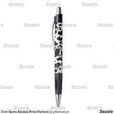 Check out Zazzle's great selection of Cow pens for all your writing needs! Let the ink flow as you take notes in class or work meetings! Black Cow, Black And White, Cow Pen, Coward Of The County, Cow Spots, Spotted Animals, Custom Writing, Out Of Style, Ballpoint Pen