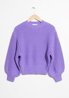 & Other Stories | #andotherstories #knit #sweater #purple