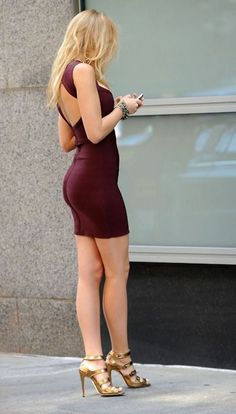 sexy fitted dress with open back love this