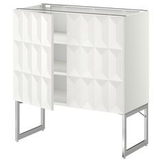 METOD Base Cabinet With Doors Black/herrestad White Cm   IKEA