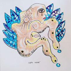 Serie: Ángeles Guardianes por #ScottNeri (Acrílico VANGUARDIA de PINTO sobre Fabriano 35x50cm) Colección Privada. www.scottneri.com #arte #yoartista #ElArteDelImaginista #ScottNeriElArteDelImaginista #art #mexicanart
