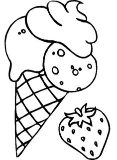 Strawberry Ice Cream Mix Coloring For Kids - Cookie Coloring Pages : KidsDrawing – Free Coloring Pages Online Ice Cream Coloring Pages, Bee Coloring Pages, Animal Coloring Pages, Printable Coloring Pages, Coloring Pages For Kids, Free Coloring, Kids Coloring, Ice Cream Cone Drawing, Transformers Coloring Pages