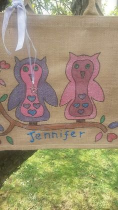 a owl shopping bag! you can get any bag with your name on it and what ever design you want! xx