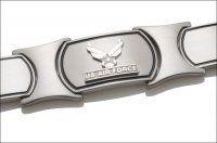 Men's Air Force Bracelet - Silver Emblem
