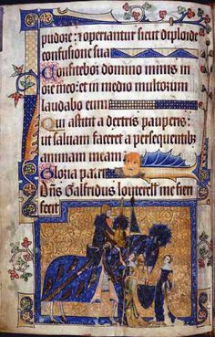 How One Man's Desire to Flaunt His Wealth Became a Book of Psalms It provides a searing glimpse of the toils of medieval laborers. by Urvija Banerji May 2016 www. Medieval Life, Medieval Art, Renaissance Art, Medieval Books, Renaissance Clothing, Psalm 109, Psalms, Illuminated Letters, Illuminated Manuscript