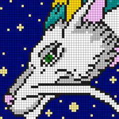 Haku In Dragon Form From Spirited Away Square Perler Bead Pattern / Bead Sprite Pony Bead Patterns, Kandi Patterns, Alpha Patterns, Perler Patterns, Beading Patterns, Totoro, Beaded Cross Stitch, Cross Stitch Embroidery, Cross Stitch Designs