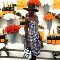 McQueen Bi-Color Bonded Grid Mini Dress   Spotted on popsugarfashion