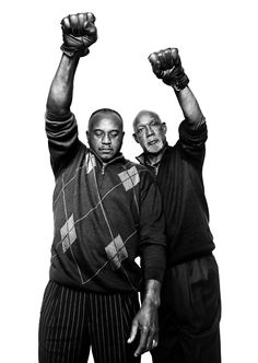 Tommie Smith and John Carlos, 1968 Olympic medal winners  Photograph by Platon, originally published in The New Yorker (2011)  Today (October 16) is the anniversary of Smith and Carlos's famous black power Olympics medal podium protest.