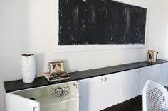 DIY Floating cabinets using Ikea shelves brilliant behind our dining table