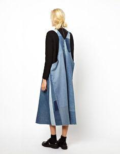patched denim dresses 12
