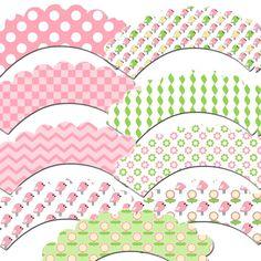 Pretty Little Bird Cupcake Wrappers by outsidetheboxdessert, $10.00