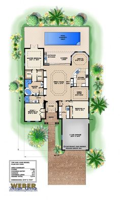 Jaw-Dropping Useful Ideas: Flooring Plans With Courtyard flooring plans with courtyard.Wood And Marble Flooring flooring trends beams. Narrow Lot House Plans, New House Plans, House Floor Plans, Modern Flooring, Grey Flooring, Garage Flooring, Unique Flooring, Terrazzo Flooring, Linoleum Flooring