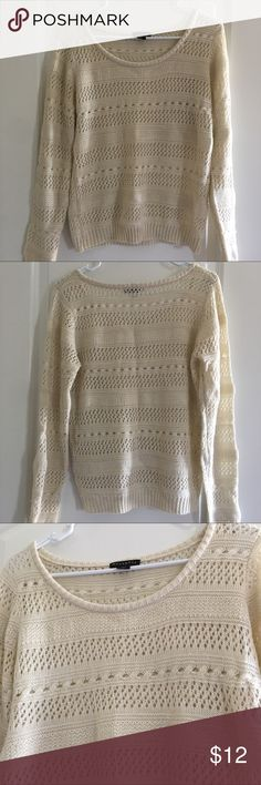 Cream Sweater Sparkly cream colored sweater Metaphor Sweaters