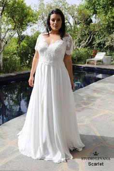 016bfdf0 Plus size wedding gowns 2018 Scarlet (4) Rustikke Brudekjoler, Blonder  Bryllupper, Kjole