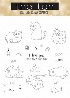 These cats are so playful and adorable! Stamp them on your papercrafts to send a smile or a hug! - 4x6 inches - 28 stamps - Made of photopolymer - Made in the U.S. - Designed by Mayline Jung