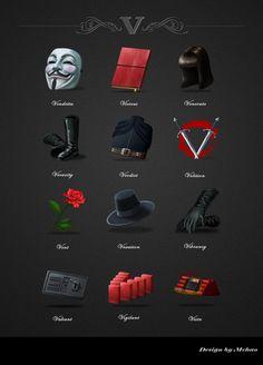 V for vendetta icons design by mchaoo.deviantart.com on @deviantART