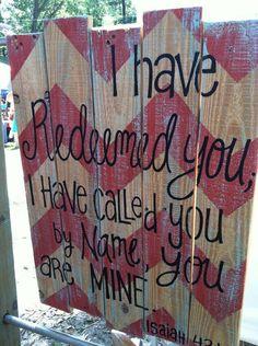 Wood Pallet Art - Chevron Bible Verse Isaiah