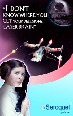 """Seroquel Advertisement sponsored by Carrie Fisher"" . Ringling School of Art & Design Assignment ."