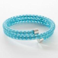 Posh Bracelet, Light Blue -Brian C Grenier, Consultant, Touchstone Crystal by Swarovski