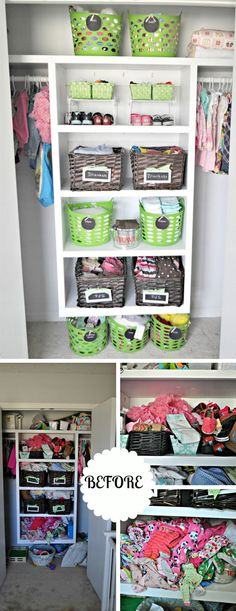 Organizing a Toddler's Closet | Easy Storage Ideas for Small Spaces | DIY Organization Ideas for the Home