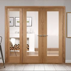 Easi-frame oak door and frame room dividers, big and beautiful. Room Divider Doors, Sliding Room Dividers, Sliding Doors, Oak Door Frames, Oak Doors, Decorative Room Dividers, Sliding Door Window Treatments, Portable Room Dividers, Divider Design