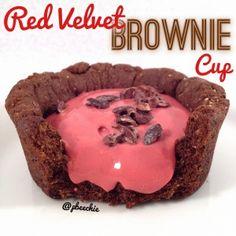 Red Velvet Brownie Cup #onaquest