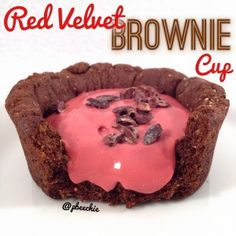 Red Velvet Brownie Cup #onaquest