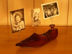 Shoe Stretcher Photo Holder on Etsy $19.00