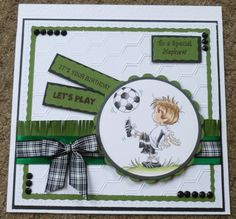 Soccer birthday card check out the technique tuesday blog for other soccer birthday card lili of the valley footballer lotv nephew football stampin up hexagon bookmarktalkfo Gallery