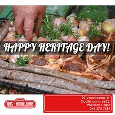 Wes-Handelshuis would like to wish you all a stunning Heritage Day, all your braai snacks, breads and more can be purchased here, so feel free to stop by. #heritageday #braaiday Ons will vir jou 'n gelukkige Erfenisdag wens, jy kan al jou braai lekkergoed hier by Wes-handleshuis vind.