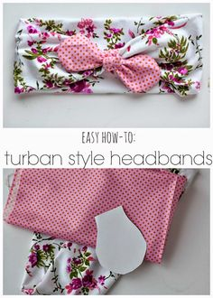 Turban Style Headband diy craft headband crafts diy crafts do it yourself diy projects sewing projects diy sewing projects diy and crafts Fabric Crafts, Sewing Crafts, Diy Couture, Diy Hair Accessories, Sewing Accessories, Sewing Projects For Beginners, Baby Bows, Baby Crafts, Fun Crafts