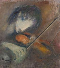 Elvi Maarni (1907-2006)*  Viulua soittava tyttö, öljy, sign., 29x25 The World's Greatest, Art Music, Figurative Art, Fine Art America, Knight, Wall Art, Artwork, Model, Painting
