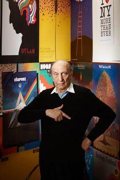 Milton Glaser by John Medere Graphic Design Art, Graphic Design Illustration, Bob Dylan Poster, Otl Aicher, Brewery Logos, Rene Gruau, Milton Glaser, Renaissance Men, Cultura Pop