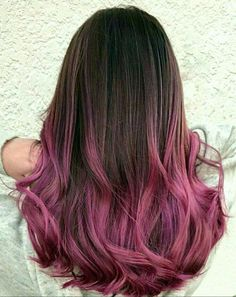 Ombre brunette in vivid roses and pinks You are in the right place about ombre hair pink Here we off Ombre Hair Brunette, Pink Ombre Hair, Best Ombre Hair, Brown Ombre Hair, Hair Color Pink, Hair Dye Colors, Cool Hair Color, Purple Ombre, Pinkish Purple Hair