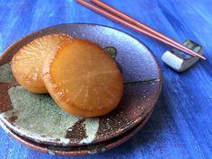 "Daikon Radish Daikon no Nimono Tender Braised Japanese Daikon is Bursting at the Seams with Flavor!: Japanese Braised Daikon ""Daikon No Nimono""Tender Braised Japanese Daikon is Bursting at the Seams with Flavor!: Japanese Braised Daikon ""Daikon No Nimono"" Japanese Side Dish, Japanese Diet, Japanese Meals, Fall Recipes, Asian Recipes, Asian Foods, Healthy Japanese Recipes, Szechuan Recipes, French Recipes"